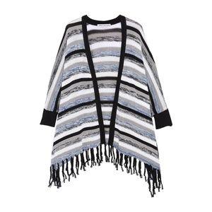 Cotton by Autumn Cashmere Fringe Wrap Cardigan XS